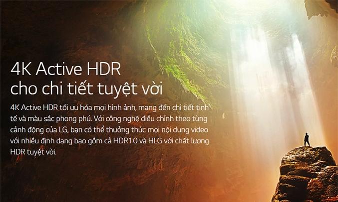 Tivi LED LG 43 inch 43UM7300PTACông nghệ 4K Active HDR tối ưu hóa mọi hình ảnh