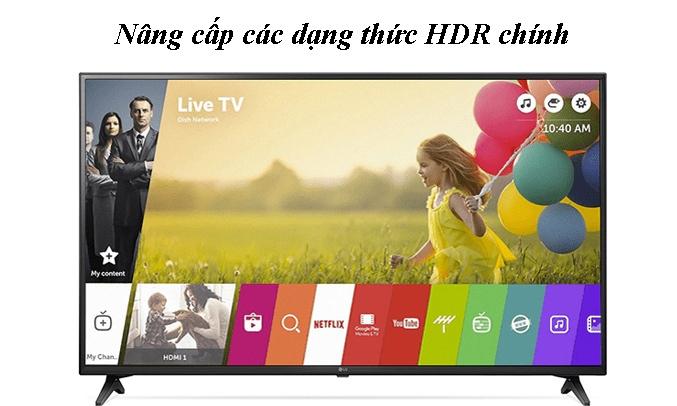 Smart Tivi LG 4K 49 inch 49UN7190PTA Nâng cấp các dạng thức HDR chính