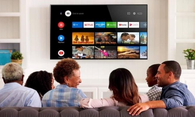 Android Tivi Sony 4K 43 inch KD-43X8050H VN3 Điều khiển bằng giọng nói thông minh