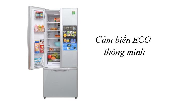 Tủ lạnh Hitachi Inverter 382 lít R-WB475PGV2 (GS) Cảm biến ECO thông minh