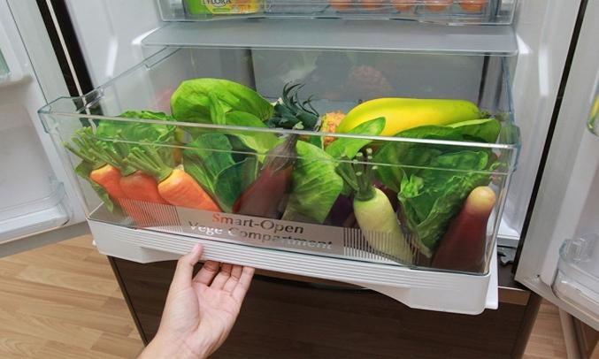 Tủ lạnh Hitachi Inverter 382 lít R-WB475PGV2 (GS) Kháng khuẩn, khử mùi
