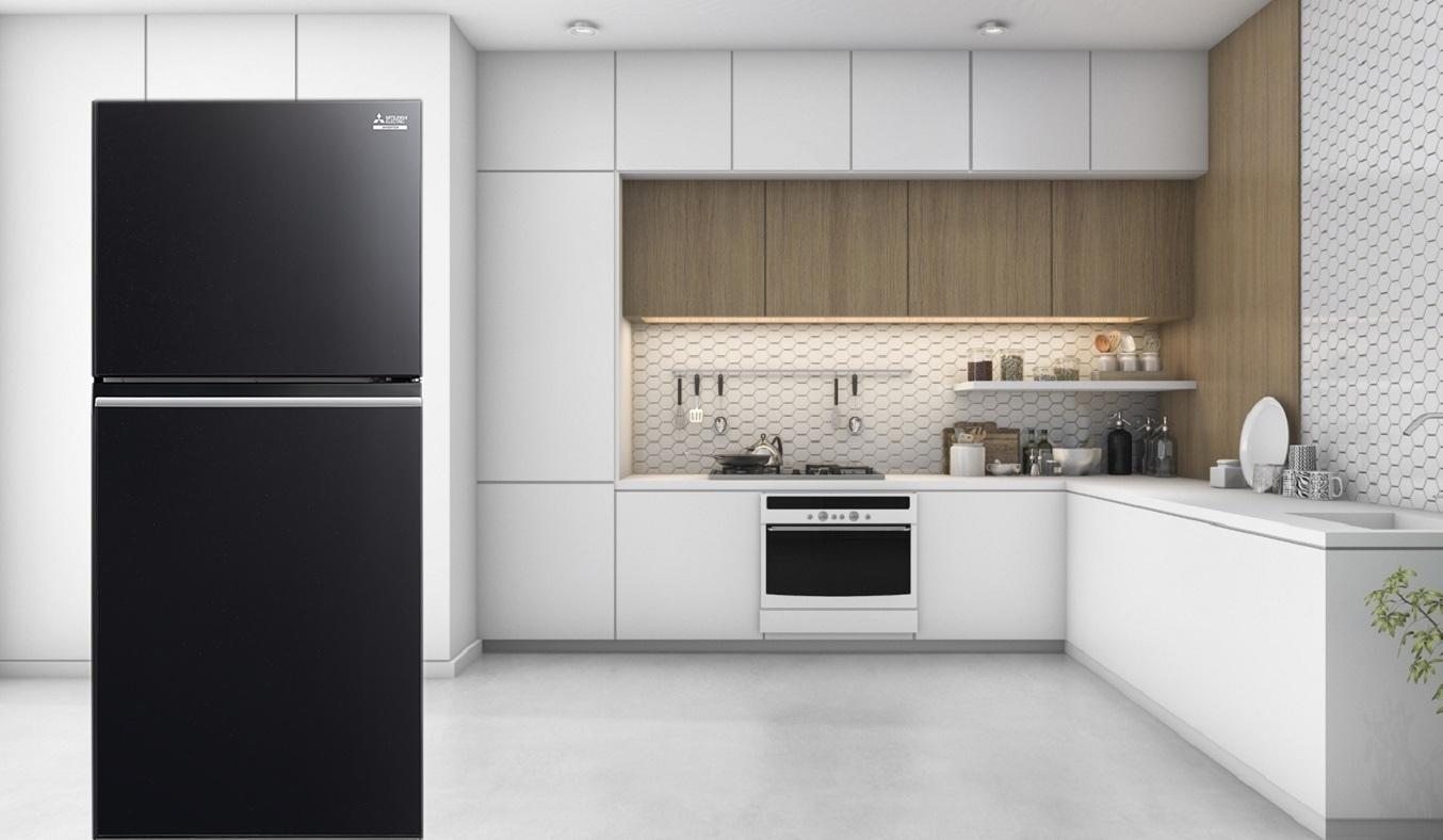 Tủ lạnh Mitsubishi Electric Inverter 344 lít MR-FX43EN-GBK-V thiết kế sang trọng