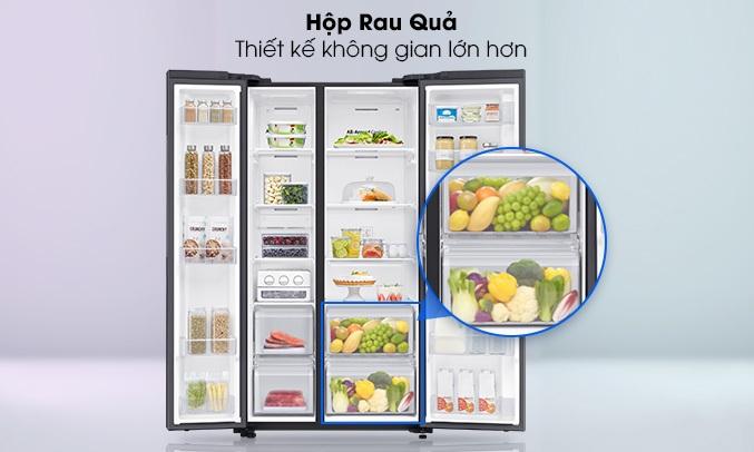 Tủ Lạnh Samsung 680 Lít SBS RS62R5001B4 làm mát linh hoạt