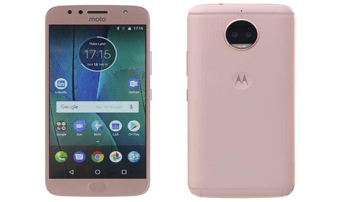 Điện thoại Motorola G5S Plus Vàng (XT1805) thiết kế chắc chắn