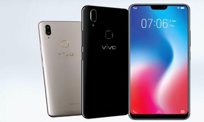 Điện thoại di động Vivo V9 đen pin dùng khá lâu