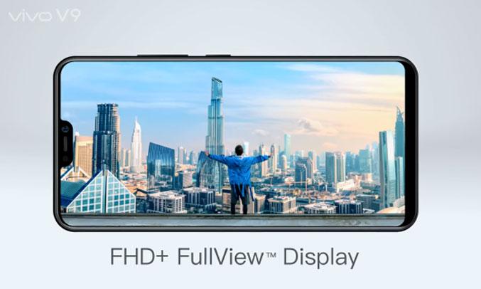 Điện thoại di động Vivo V9 đen màn hình cực rộng 6.3 inch