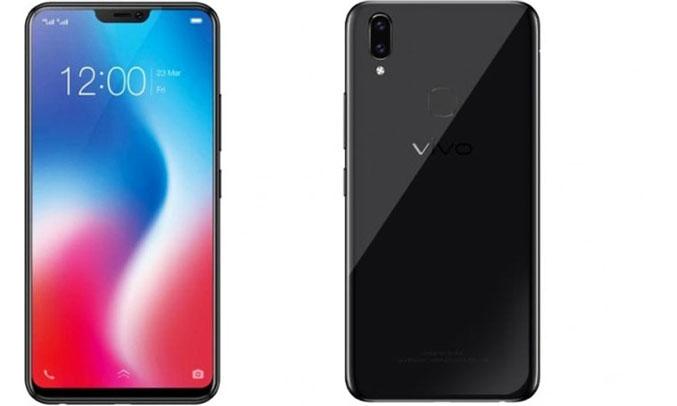 Điện thoại di động Vivo V9 cảm biến vân tay tăng tính bảo mật