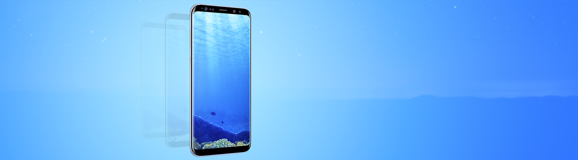 Điện thoại Samsung Galaxy S8 xanh màn hình sắc nét