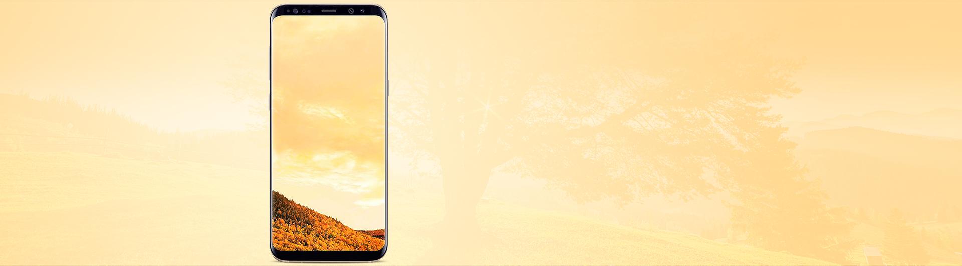 Điện thoại Samsung Galaxy S8 Plus vàng màn hình sắc nét