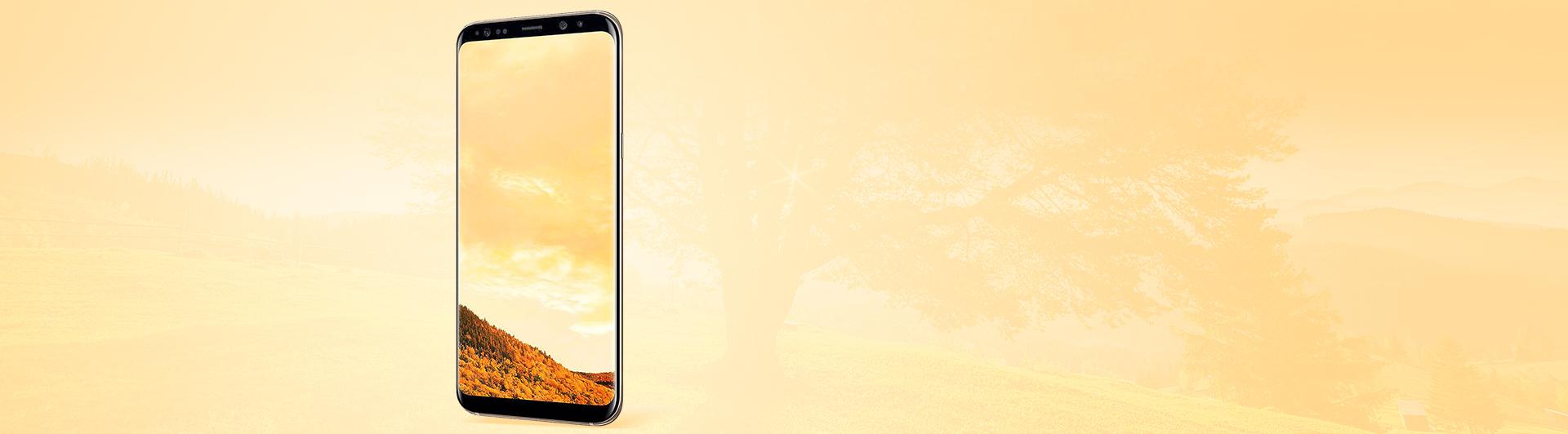Điện thoại Samsung Galaxy S8 Plus vàng thiết kế đẹp mắt