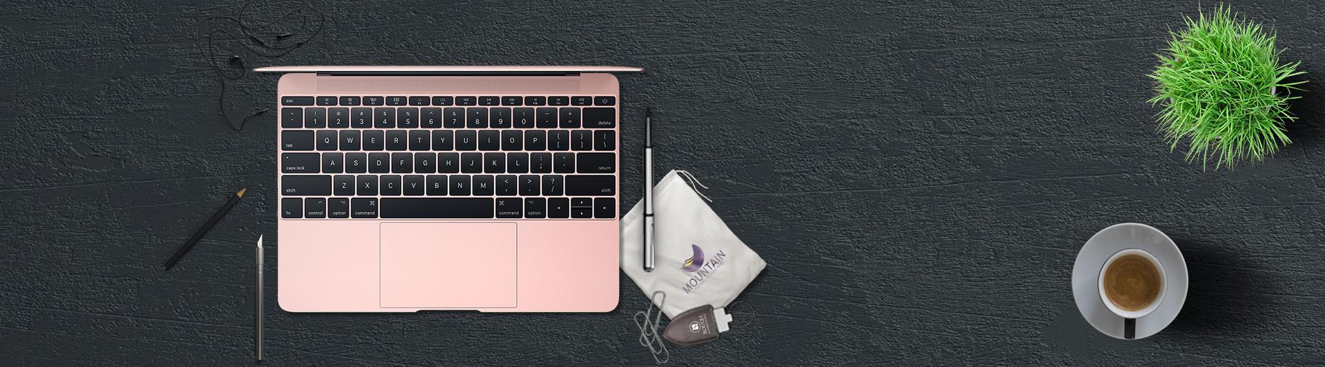 Macbook 12 inch 256GB (2017) hồng đẹp mắt