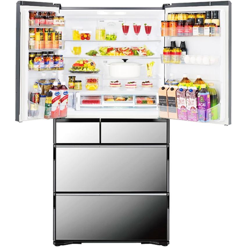 Tủ lạnh Hitachi Inverter 722L R-X670GV,thiết kế 6 cửa (5 ngăn riêng biệt)