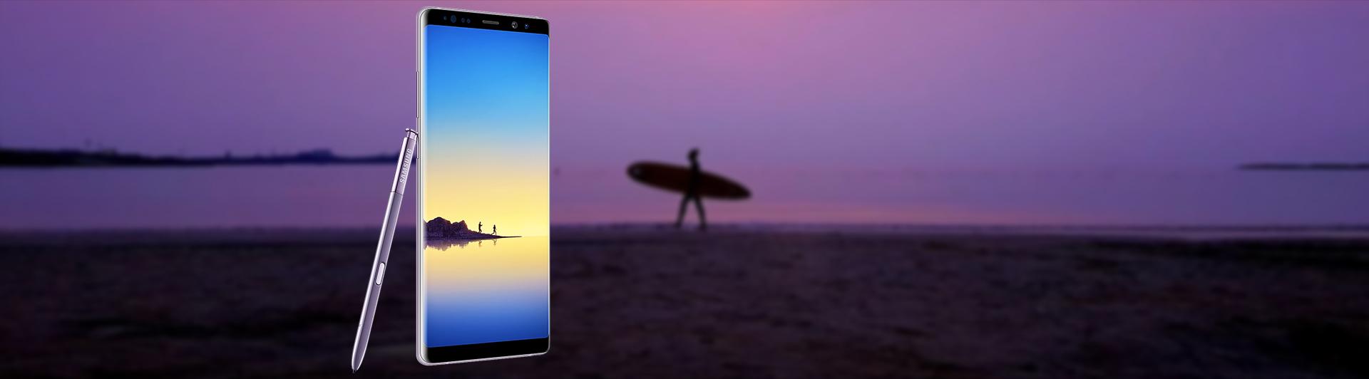 Điện thoại di động Samsung Galaxy Note 8 tím (SM-N950F/DS) góc nghiêng