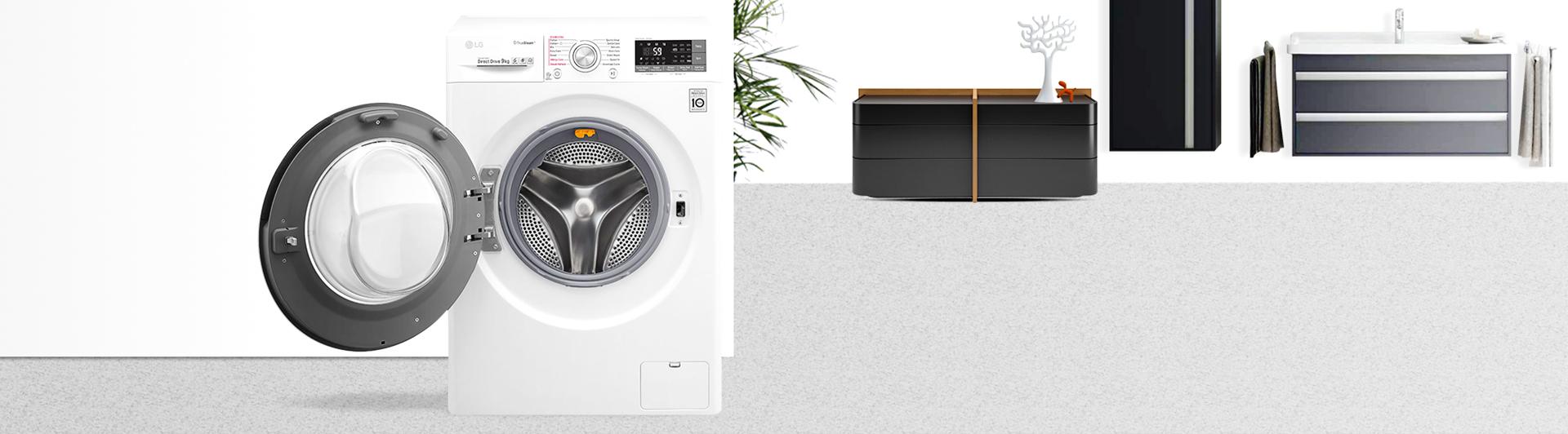 Máy giặt LG 9KG FC1409S2W cửa trước hiện đại, độc đáo