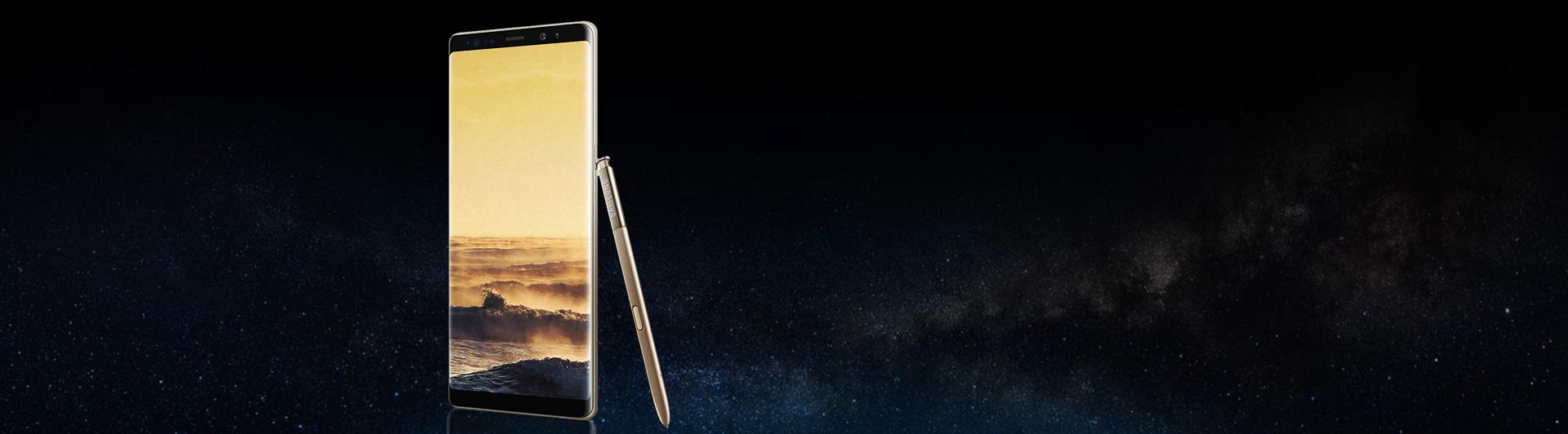 Điện thoại Samsung Galaxy Note8 vàng hỗ trợ thẻ nhớ lên đến 256GB