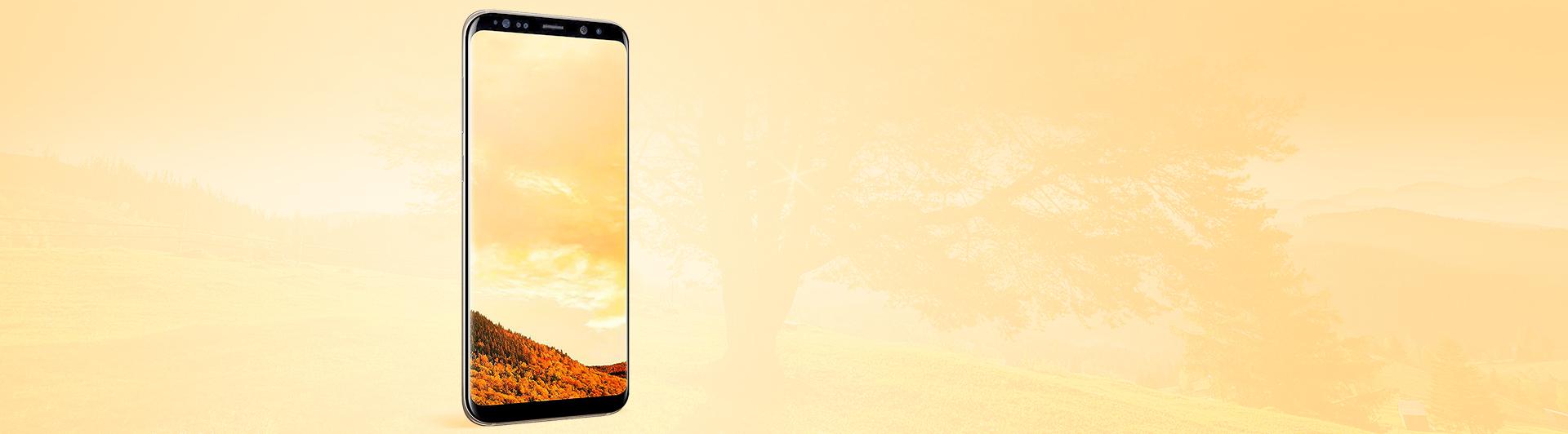 Điện thoại Samsung Galaxy S8 Plus vàng sang trọng