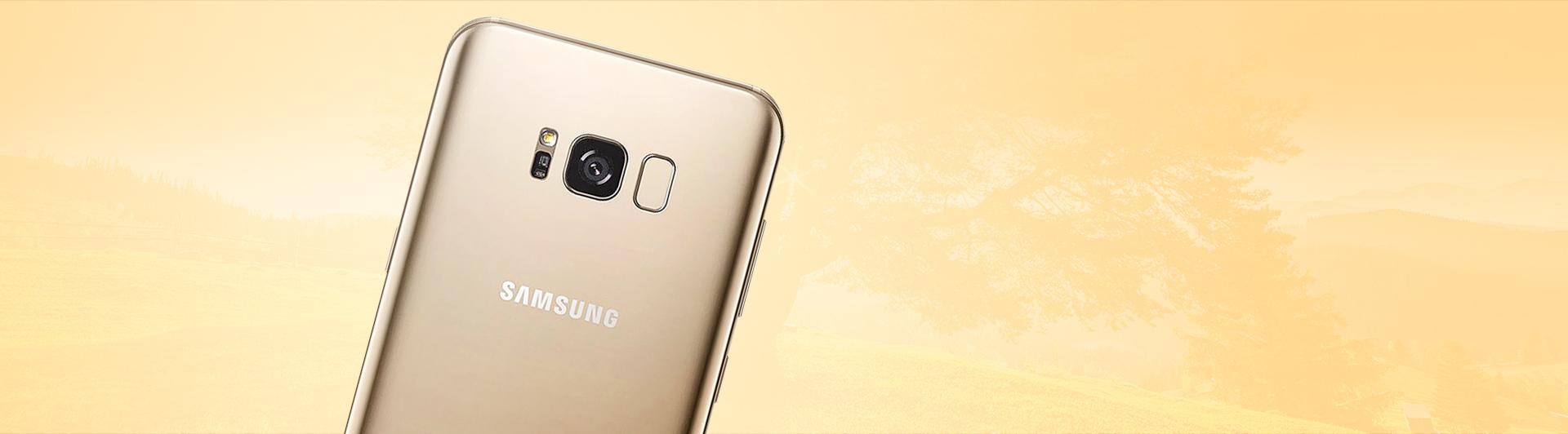 Điện thoại Samsung Galaxy S8 Plus vàng trả góp 0% tại Nguyễn Kim