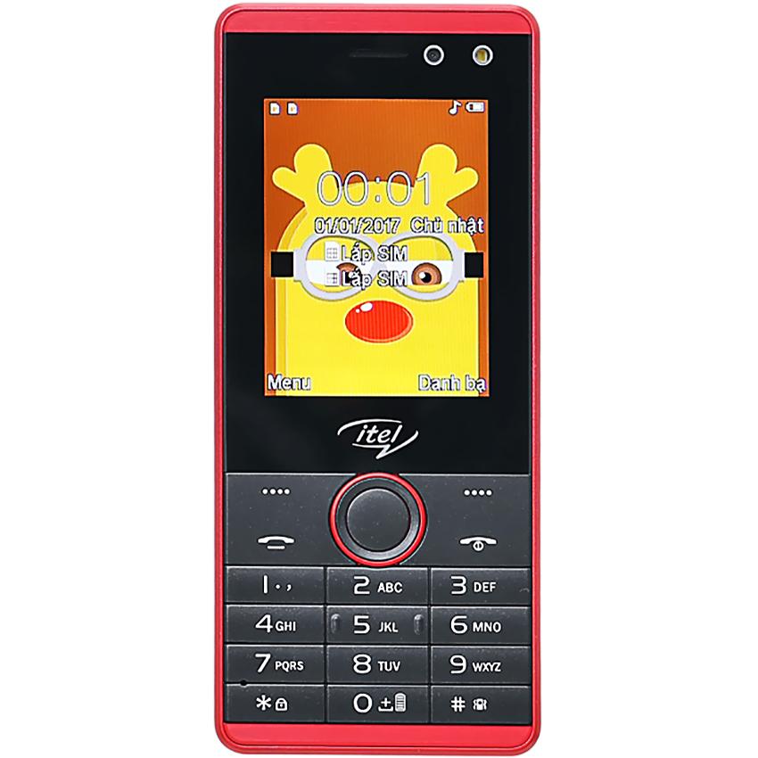 Điện thoại di động iTel IT5232 màu đỏ mặt trước