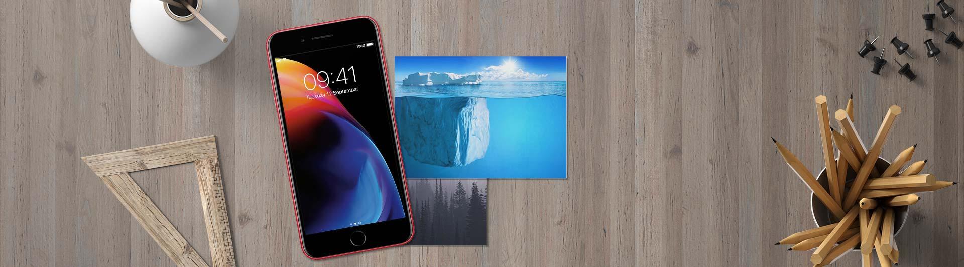 Điện thoại iPhone 8+ 64GB Red mặt trước