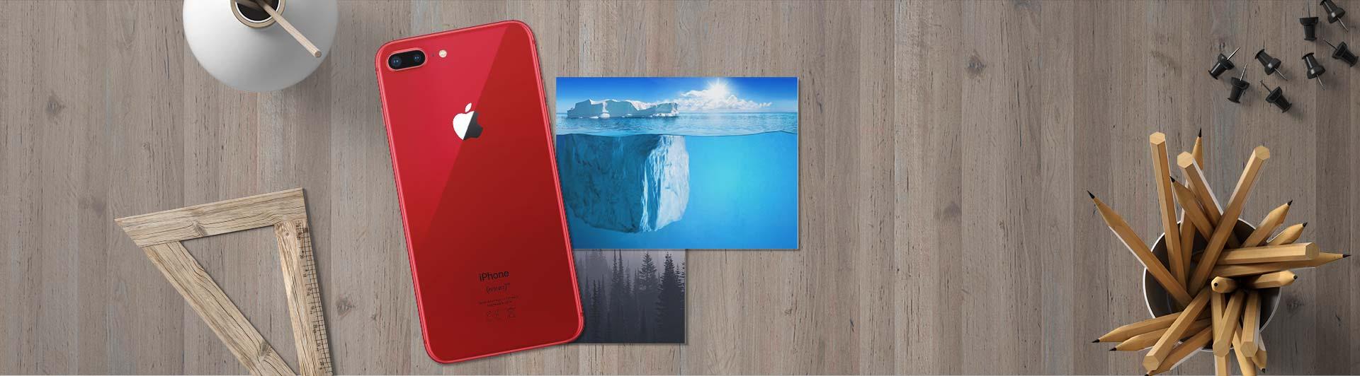 Điện thoại iPhone 8+ 64GB Red cạnh bên