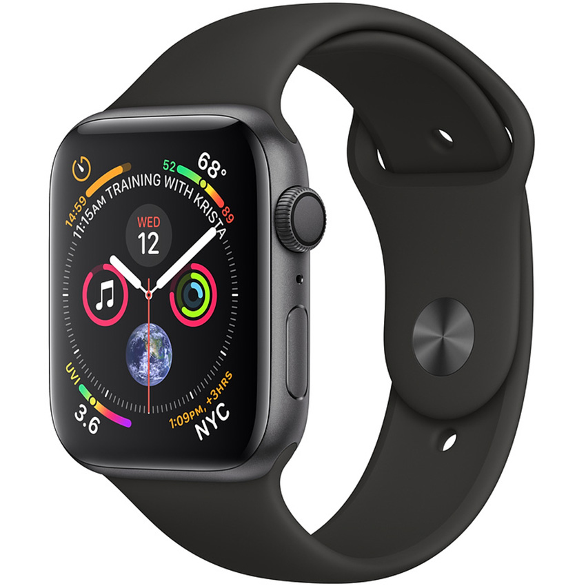 APPLE WATCH SERIES 4 40MM SPACE GREY - BLACK SPORT BAND