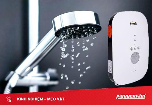Nhà có nguồn nước yếu thì sử dụng máy nước nóng như thế nào hiệu quả?
