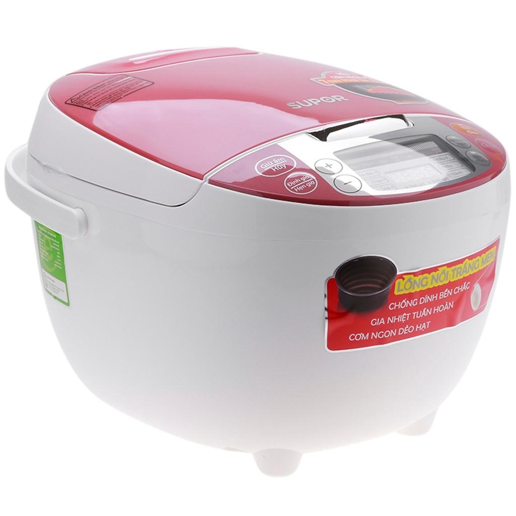 Nồi cơm điện Supor 1.8 lít CFXB50FC29VN-75 Trắng hồng – Hàng điện tử tiêu dùng