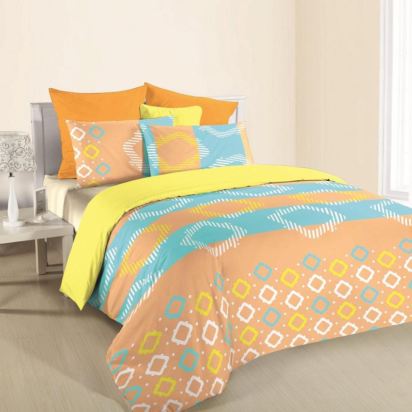 Bộ drap trải giường áo gối Harumi 140x200cm