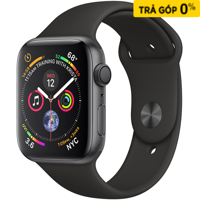 APPLE WATCH SERIES 4 44MM SPACE GREY - BLACK SPORT BAND
