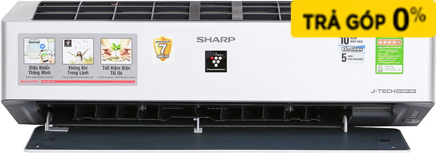 MÁY LẠNH SHARP INVERTER 1 HP AH-XP10VXW - 3637236 , 73636 , 61_73636 , 12500000 , MAY-LANH-SHARP-INVERTER-1-HP-AH-XP10VXW-61_73636 , nguyenkim.com , MÁY LẠNH SHARP INVERTER 1 HP AH-XP10VXW