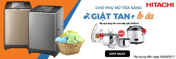 Sắm máy giặt Hitachi - Tặng bộ quà tiện dụng