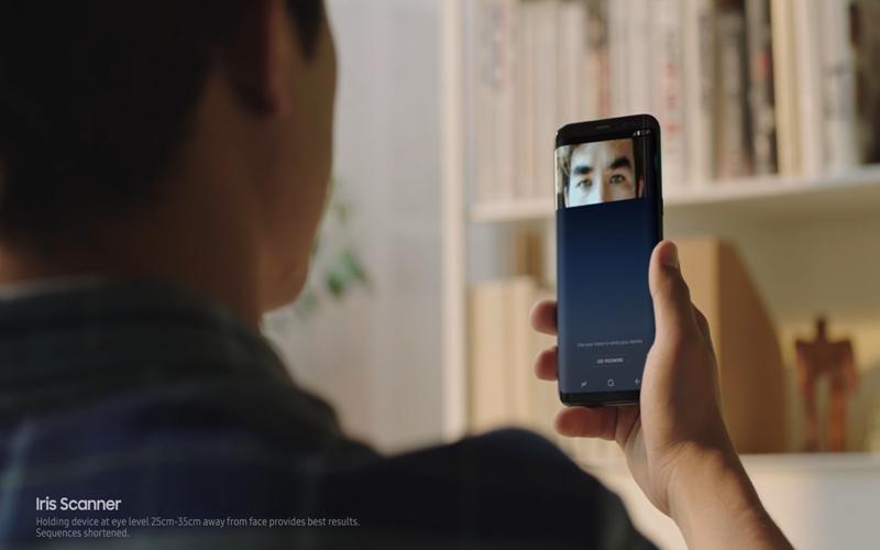 Samsung khuyến khích bạn sử dụng bảo mật mống mắt