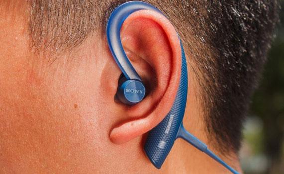 Tai nghe Sony MDR-XB80BSBZE màu xanh thiết kế tinh tế, gọn gàng