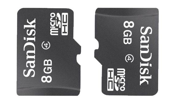 Thẻ nhớ Sandisk MicroSDHC4 8GB thiết kế nhỏ xinh