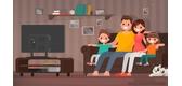 Khoảng cách và tư thế xem tivi như thế nào là hợp lý?