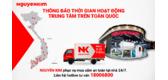 Thông Báo Thời Gian Hoạt Động Của Trung Tâm Mua Sắm Điện Máy Nguyễn Kim