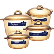 Bộ nồi TT Luminarc Blooming Amberline 1L, 2L, 3L, 5L