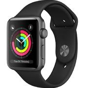Apple Watch Series 3 42mm viền nhôm xám, dây cao su đen
