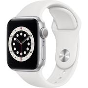 Apple Watch S6 GPS 40mm Vỏ nhôm Dây cao su Trắng