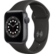 Apple Watch S6 GPS 40mm vỏ nhôm dây cao su Đen