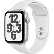 Apple Watch SE GPS 44mm Vỏ nhôm Dây cao su Trắng