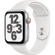 Apple Watch SE LTE 44mm Vỏ nhôm Dây cao su Trắng