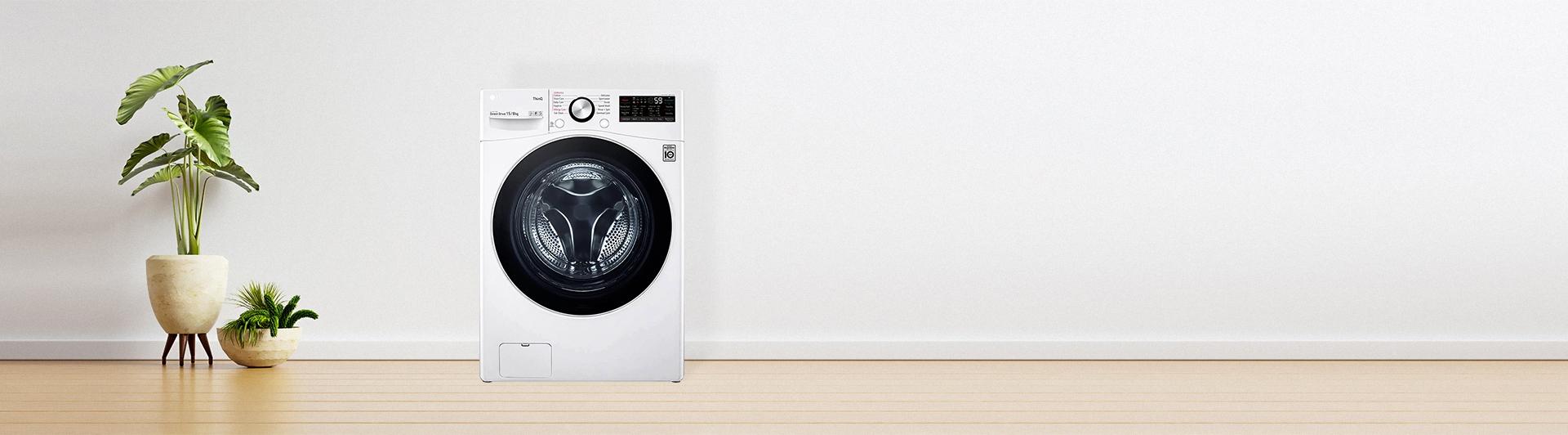 Máy giặt sấy LG Inverter 15 kg F2515RTGW