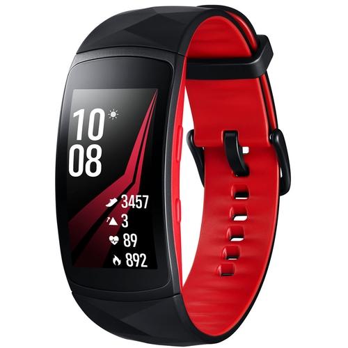 Đồng hồ thông minh Samsung Gear Fit2 Pro màu đỏ mặt trước
