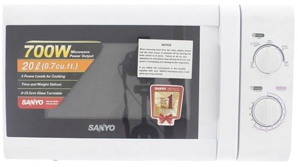 Mua lò vi sóng Sanyo EM-S2182W dung tích 20 lít, giá rẻ tại Nguyễn Kim