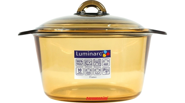 Nồi thủy tinh Luminarc Vitro Blooming Amberline mặt chính diện