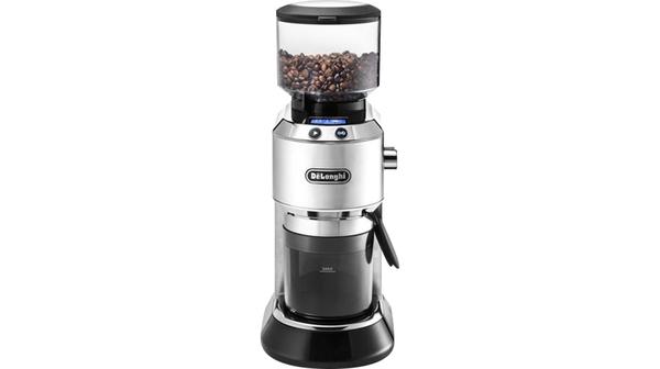 Máy xay cà phê Delonghi KG521.M với lớp vỏ được làm bằng kim loại chất lượng cao, hoạt động bền bỉ