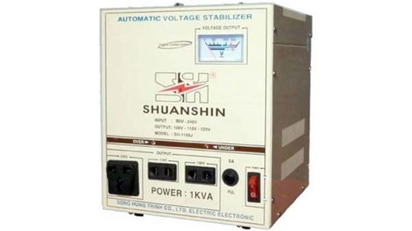 Ổn áp Shuanshin 1KVA SH-1168J công suất 1kVA giá rẻ tại Nguyễn Kim