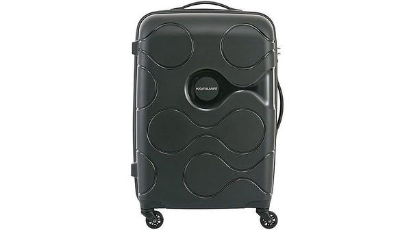 Valy nhựa Kamiliant Mapuna AM6*99003 màu đen với 4 bánh xe xoay 360 độ