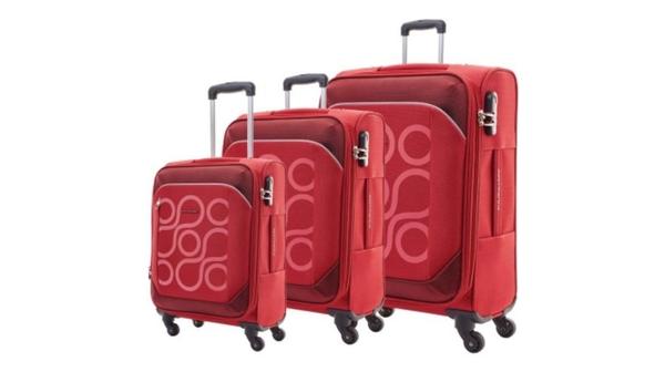 Vali vải Kamiliant Harita AM5*00003 80cm màu đỏ lưu giữ lượng hành lý lớn